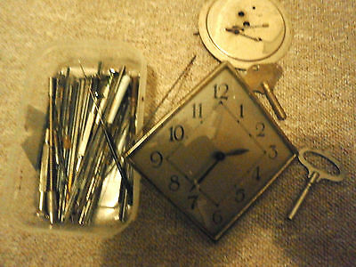 Reduced JOB LOt Box of parts /tools/movement deco face 19th c backplate etc