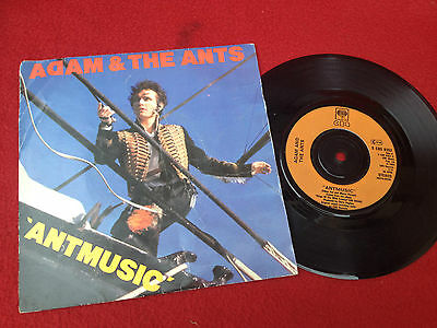 """1980s 7"""" SINGLE VINYL RECORD Adam and the Ants ANT MUSIC"""