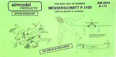 1/72 Airmodel Products Messerschmitt Me P.1100 with HeS011A turbojets