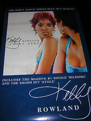 Original Kelly Rowland Promotional Poster - Simply Deep