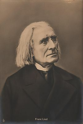 FRANZ LISZT - Hungarian Pianist/Composer - Original Vintage PORTRAIT Photo