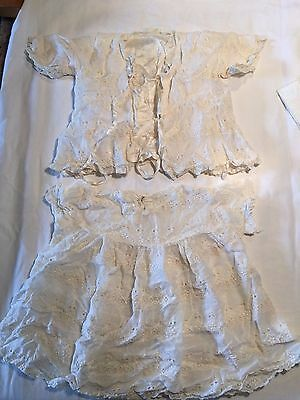 Vintage Infant Lace Clothing Set with Booties
