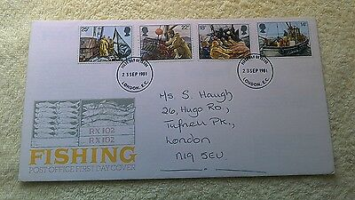 FISHING FIRST DAY COVER 1981  London   C6
