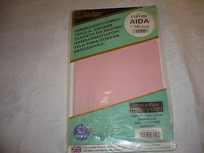 Aida 14 Count Rose Colour