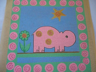 Hippo  Tapestry Needlepoint Canvas Only