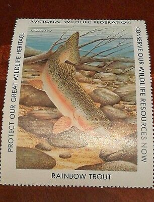 stamp RAINBOW TROUT 1976