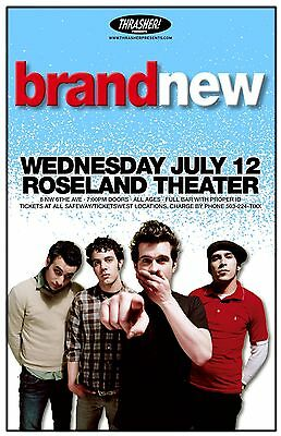 BRAND NEW w/ JESSE LACEY 2006 Gig POSTER Portland Oregon Concert