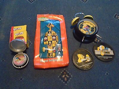 THE SIMPSONS - COLLECTION 2 x CLOCKS TIE & CUFFLINK SET COASTERS