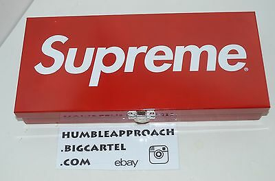 Supreme S/S 2017 Red Large Metal Box Container Storage Logo Tool Lock Small CDG