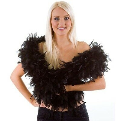 Feather Boa 80gm-2metre Long Hen Night Burlesque Dance Party Costume Stage Show