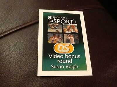 Susan Rolph / Swimming / A Question of Sport game card / 1999