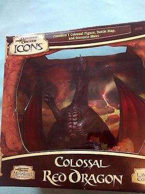 Colossal Red Dragon Wizards of the Coast - Dungeons Dragons Miniature Icons
