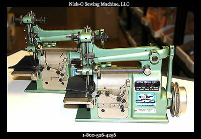 Rebuilt MERROW 15-CA-1 Flat Edge Finish Crochet Blanket Machine