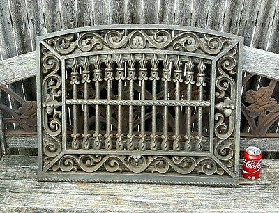 Antique Mid19thC Cast Iron Architectural Salvaged Ornate Window Guard Grille