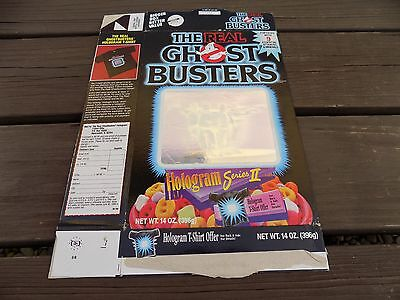 Vintage Ralston The Real Ghost Busters Hologram Series 2 Cereal box made in 1988