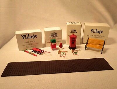Dickens Village Accessories, Lot Of 6,  Department 56