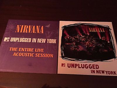 Two NIRVANA Unplugged in New York Promo 2 Sided LP Flats