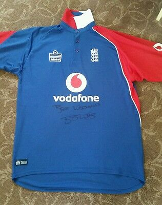 Best Wishes Ben Stokes Signed Cricket Shirt. Adults Shirt in Very Good Condition