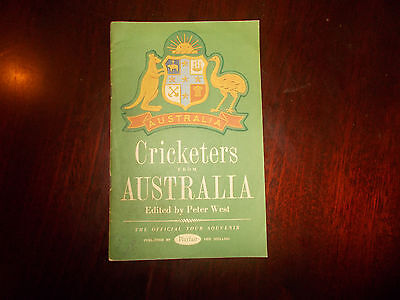 CRICKETERS FROM AUSTRALIA edited by PETER WEST.Paper Cricketing Booklet.