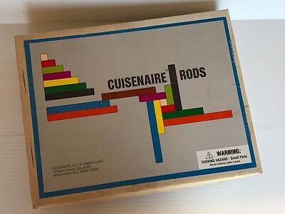 CUISENAIRE RODS, Vintage homeschool math, fractions rods, homeschool supplies