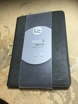 IWANTIT iPad 9.7 Air 1 2 3 Folio Case Black COMPLETE