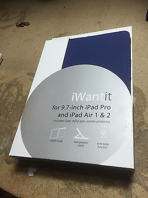 IWANTIT iPad Air 1 2 3 GEN IPAD PRO 9.7 Starter Kit BLUE COMPLETE