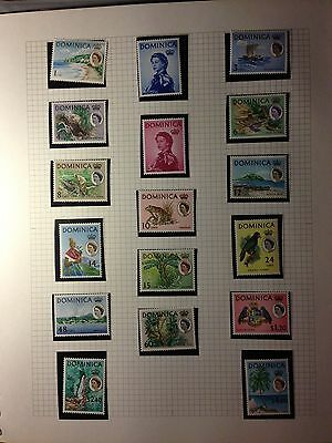 DOMINICA  1963  SG 162/78  Set of 17  MNH