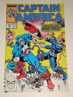 Marvel Captain America Issue # 351 Mar 89 'changing Of The Guard ' Av-Gd Con