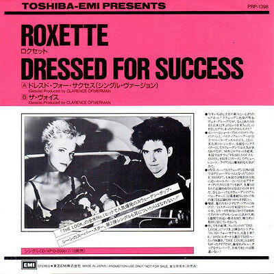 Roxette Dressed for success Japanese promo