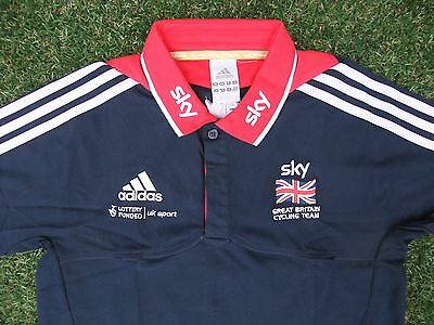 BNWT Authentic Adidas Sky Great Britain Cycling Team Polo Shirt, Small 32~34""