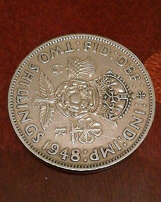 Two Shillings 1948 british coin