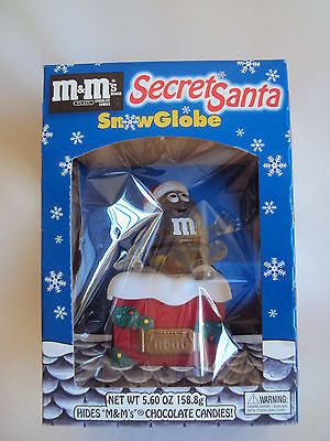 Collectible Mars, Inc Snow Globe M & M's Dispenser In Sealed