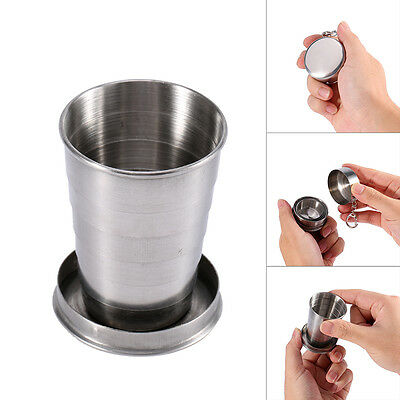 Stainless Steel Portable Outdoor Camping Travel Foldable Collapsible Cup S/M/L