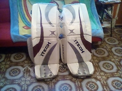Itech   11.8,x-Factor,x-Axis With Spoiler Wedge Ice Hockey Goalie Pads 36+ 1