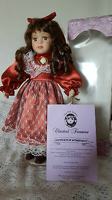 "Classical Treasurers 16"" Porcelain Doll W/stand~Coa~Limited Edition~Original B0X"
