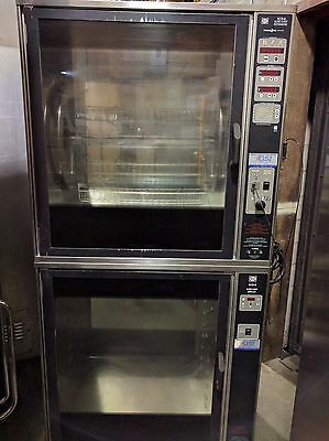 Henny Penny Double Stack Scr-8 Electric Commercial Rotisserie Chicken/ Beef#802