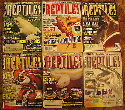 6 REPTILE MAGAZINES G SNAKES, TOADS, FROGS,LIZARDS,  ETC. From 01, 02, 03 issues