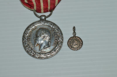 Rare Medaille Reduction Campagne Italie 1859 En Argent Napoleon Iii