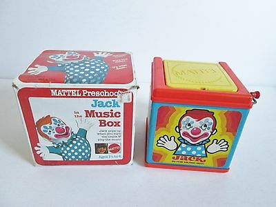 Vintage 1972 Mattel Preschool Jack In The Music Box With Original Box