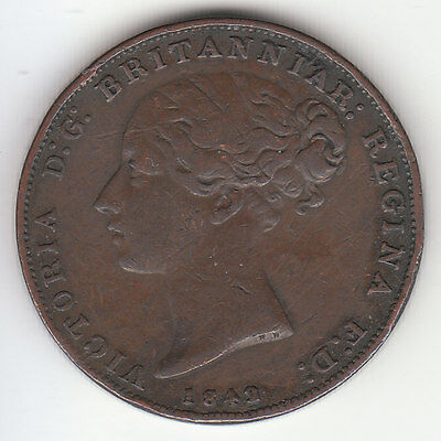 1842/1 Gibraltar Queen Victoria 2 Quarts.  KM# 3. Low Mintage - 48,000.