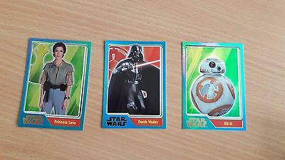 Star Wars The Force Awakens Topps Trading Cards - Rainbow Foil