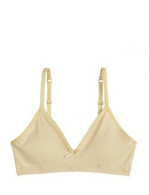 Justice Girls Oh-So Soft Cup Bra with Removable Pads Buff Nude Size 38