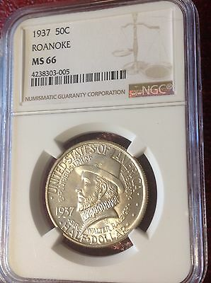 1937 Roanoke Commemorative 50c NGC MS66