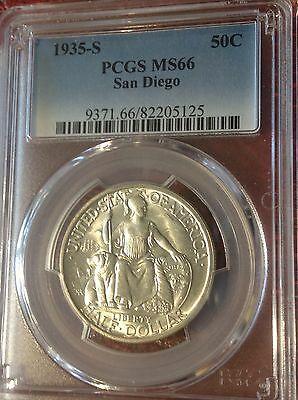 1935-S San Diego Commemorative Half Dollar PCGS MS 66