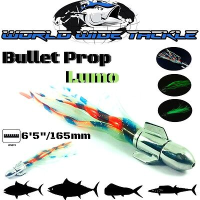 Wwt Bullet Prop Offshore Game Trolling Lure Lumo