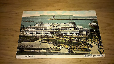Kingstown - Co Dublin - Postcard  - Vintage Ireland Irish Dun Laoghaire