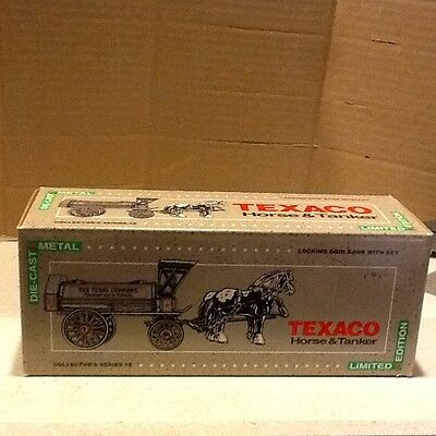 Texaco Diecast Coin Bank, Horse And Tanker, Mint Condition