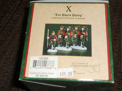 """Dept 56 Dickens' Vlge """"ten Pipers Piping"""" - #58386 - New In Box"""