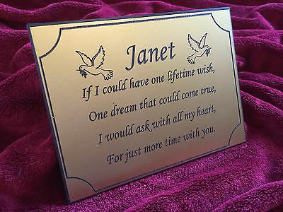 Memorial Plaque - Personalised Made to Order - Commemorative Plate - 1st 4 Signs