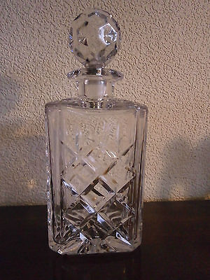 Royal Doulton Webb corbett Crystal whisky decanter etched on base